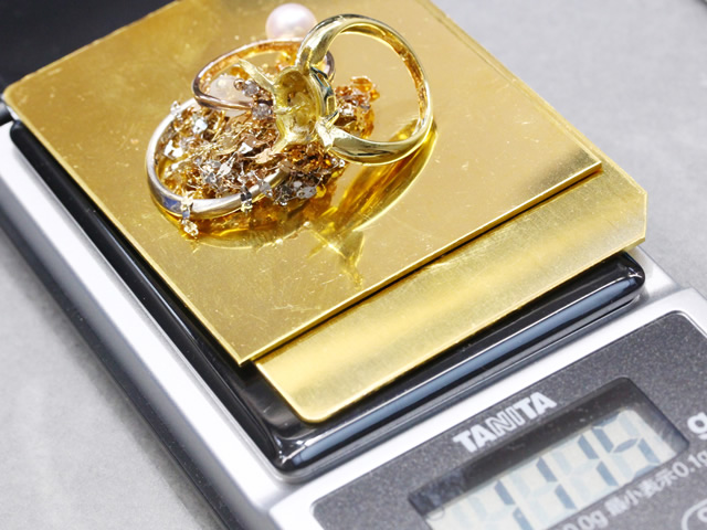 滋賀県で金のインゴットとリングの高価買取